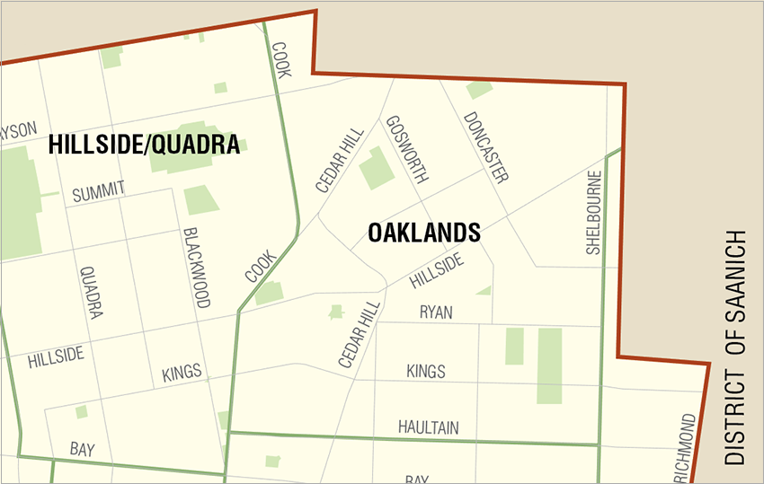 Oaklands: Click to enlarge
