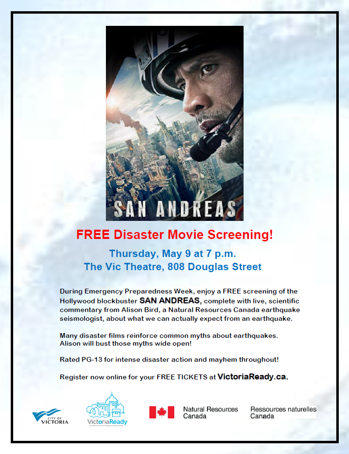 Free Disaster Movie Screening San Andreas For Emergency