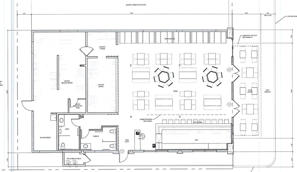 Restaurant Bar Design Plans: Occupant Load Calculations