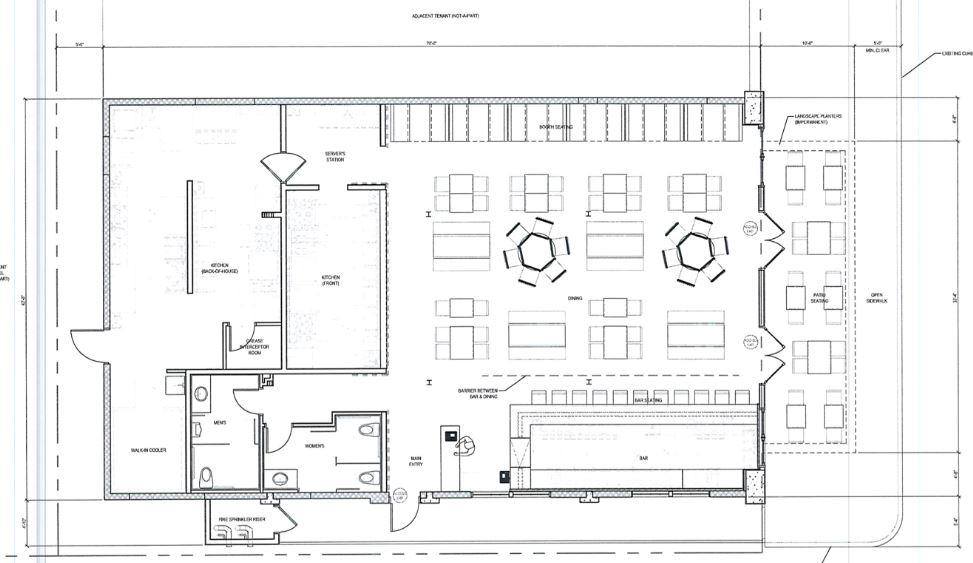 Restaurant Bar Floor Plan: Occupant Load Calculations