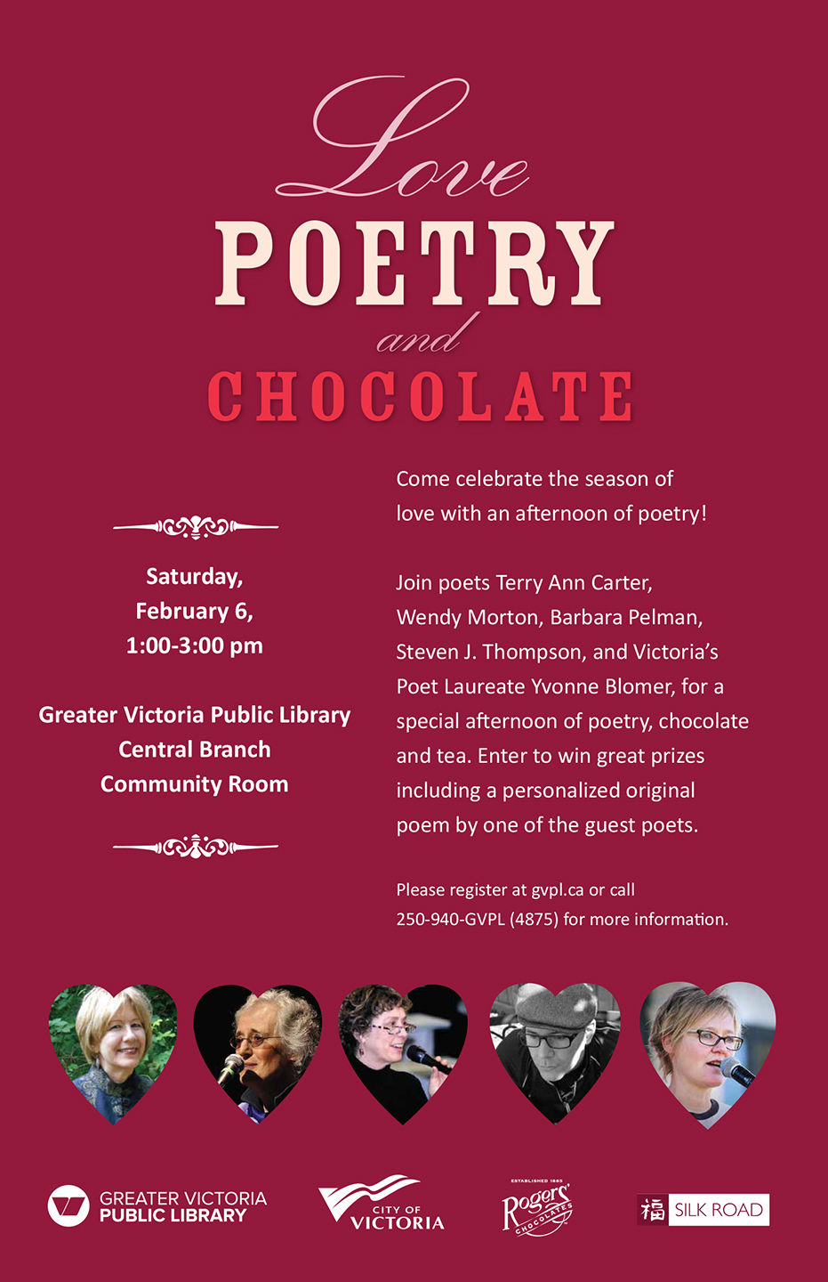 Event Love Poetry And Chocolate Victoria